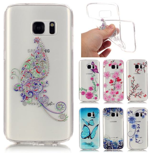 For Telefoon Hoesje Samsung Galaxy S7 Case Silicone Transparent Clear TPU  3D Relief Back Cover For 2e89f3bbdf