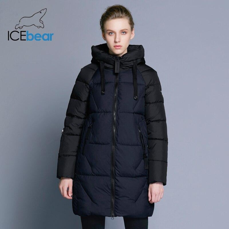 ICEbear 2018 ผู้หญิงใหม่ฤดูหนาวแจ็คเก็ตแจ็คเก็ตแจ็คเก็ตผู้หญิงความคมชัดผ้าฝ้ายผู้หญิงใหม่ 17G637D-ใน เสื้อกันลม จาก เสื้อผ้าสตรี บน   2