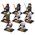 Puzzle Toy!! 8pcs/lot Star Wars Darth Vader Stormtrooper Building Blocks Toy Children Birthday Gifts