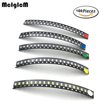 100pcs/lot 1206 SMD LED light Package LED Package Red White Green Blue Yellow 1206 led in stock Free Shipping