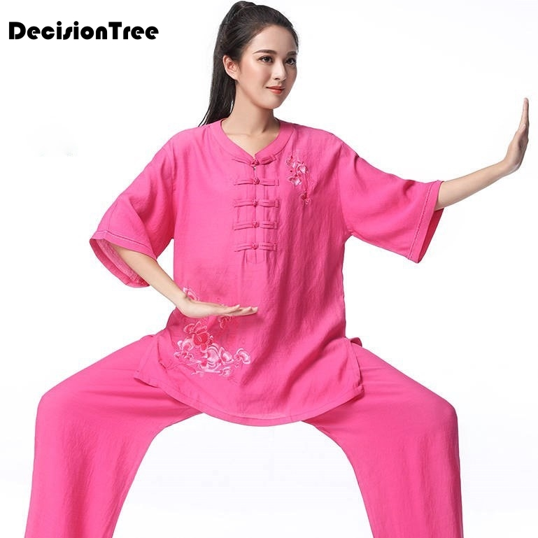 Home Constructive 2019 Summer Chinese Traditional Dress Martial Art Sets Tai Clothes Taichi Clothing Wushu Taiji Uniform Women Chinese Kung Fu Selling Well All Over The World