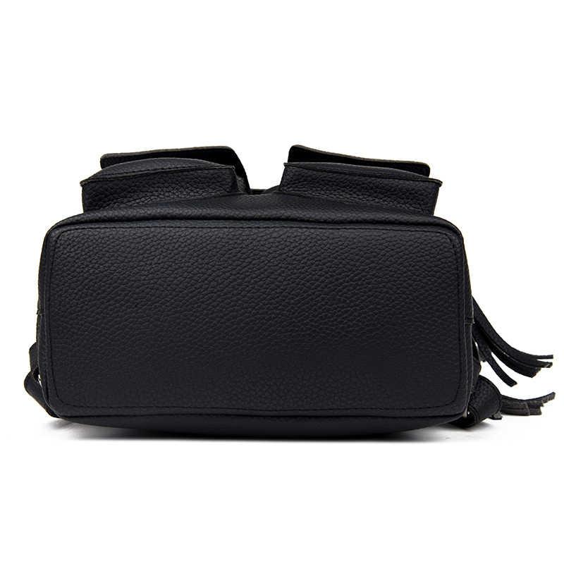 Toposhine 2019 модные рюкзаки с кисточками для девочек маленький милый женский рюкзак из искусственной кожи Модная женская сумка на плечо с заклепками школьный 1731