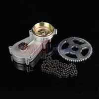47cc 49cc pocket bike liya gearbox transmission gear box mini moto atv with  T8F chain and Chain plate 2 stroke engine part