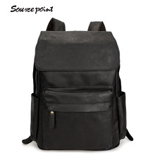 YISHEN Fashion Men's Out Door Travel Backpack Genuine Cow Leather Boy's School Bags Vintage Male Laptop Case Backpack YD-8090A#