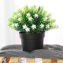Xuanxiaotong Artificial Plastic Mini Gypsophila Bonsai Tree Plants Balcony for Home Garden Table Room Decoration