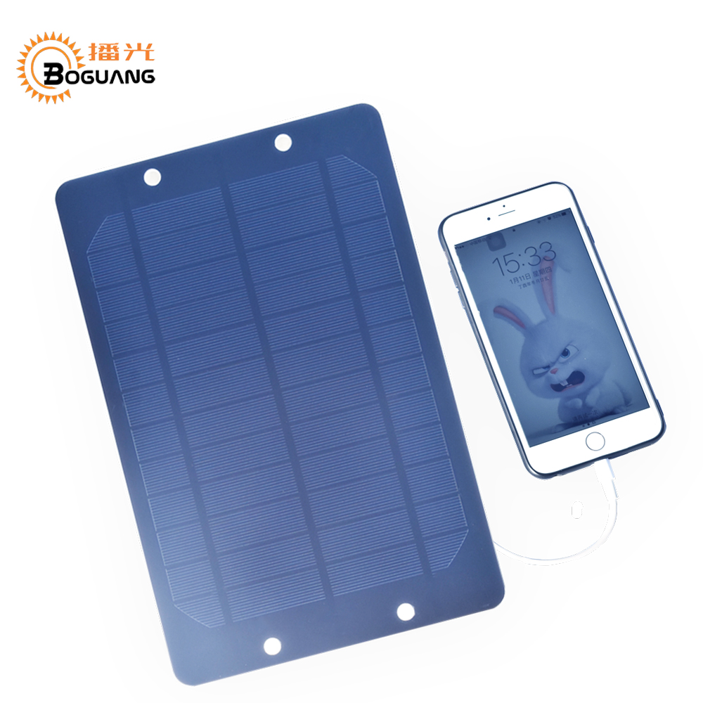 Boguang 6v/6w solar panel Mono cell module Solar Portable charger for USB 5v 2A output mobile phone power bank outdoor charger
