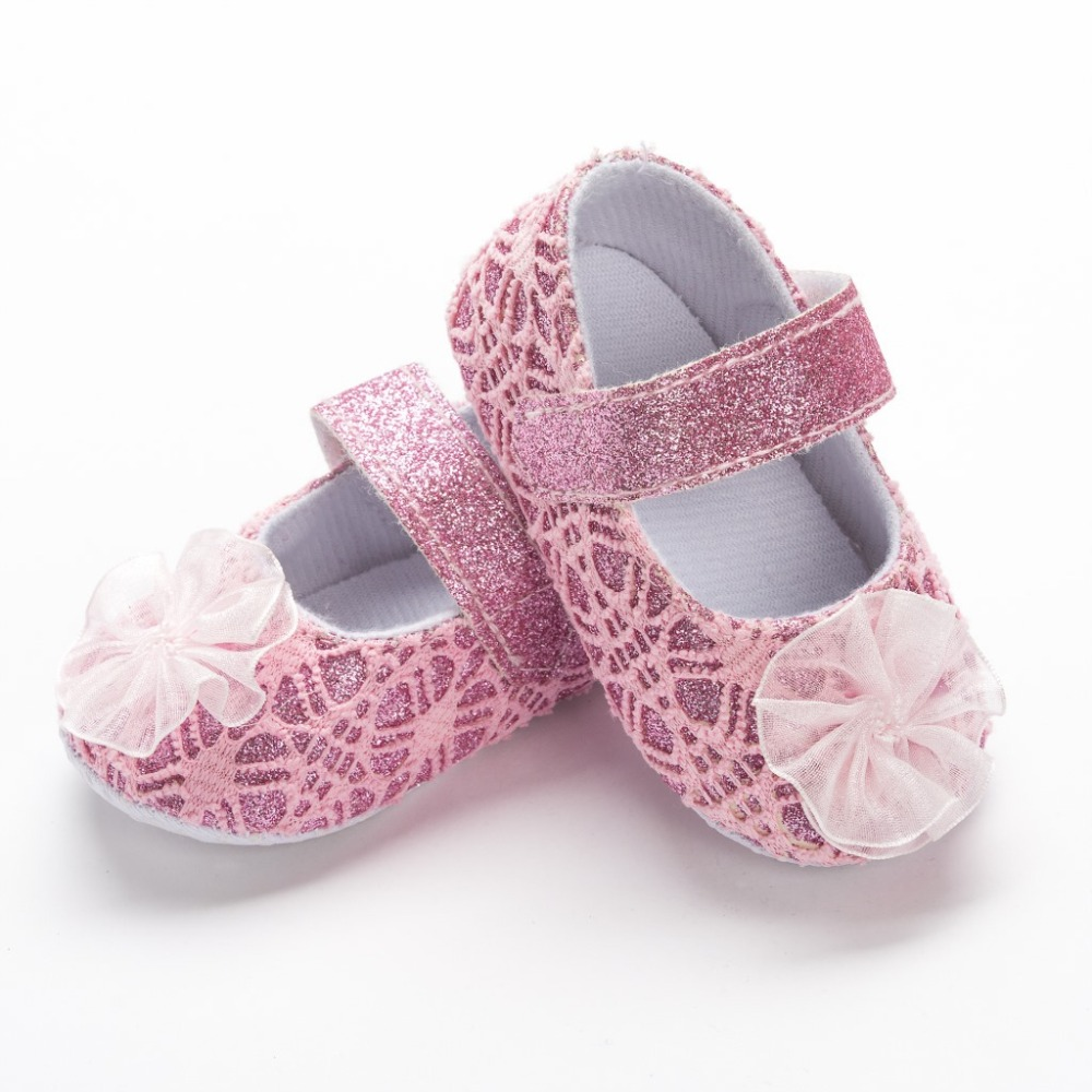Baby Shoes floral style soft sole Lace baby girls dress princess shoes baby moccasins mary jane shoes first walkers