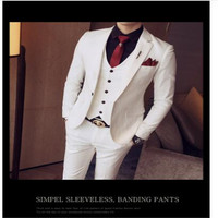 Green Tuxedo Jackets Mens Suits Slim Fit 3 Piece Sets White Stylish Designer Prom Suits Grey Costume Homme Mariage Smocking