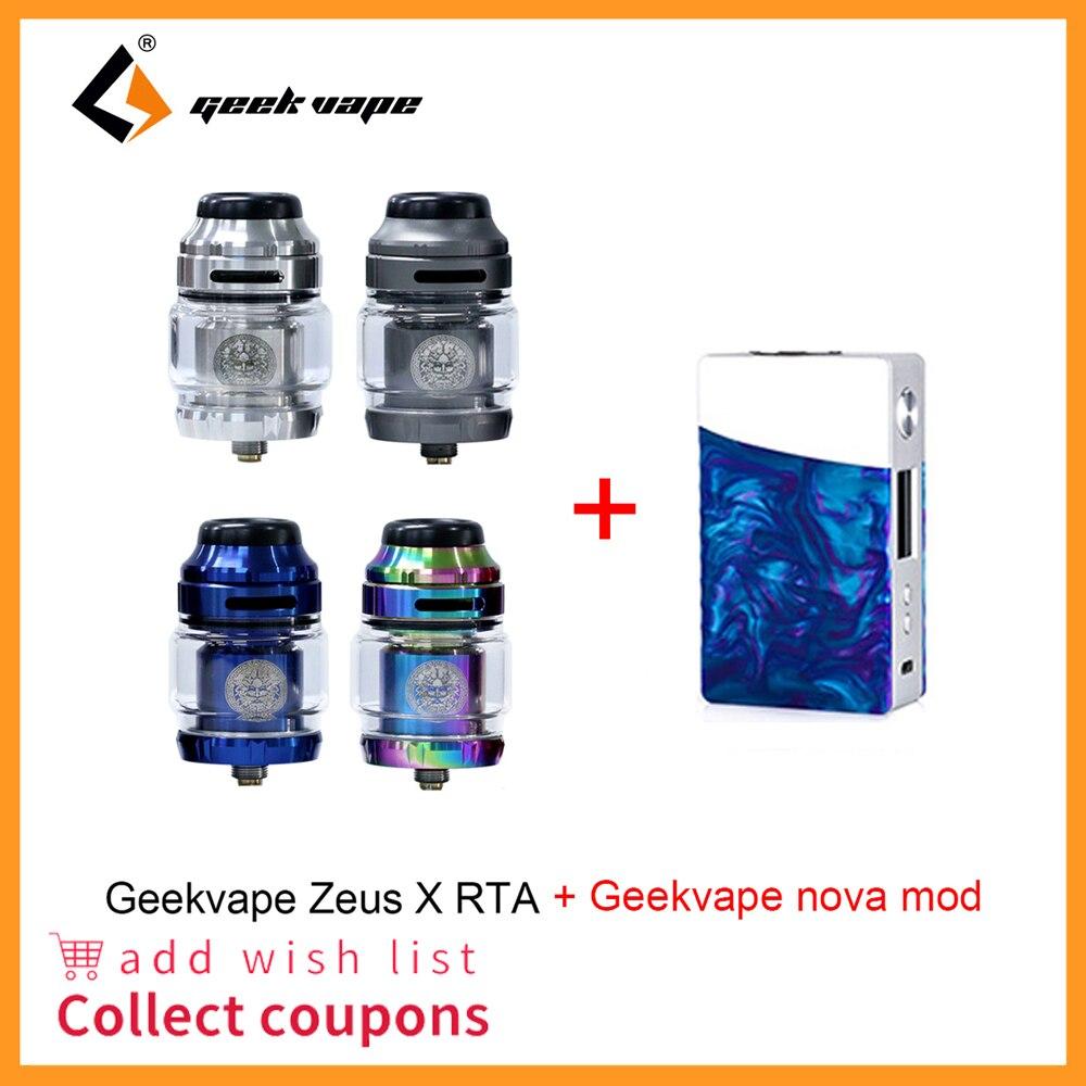 Vape tank Geekvape Zeus X RTA with 810 Delrin drip tip and nova mod Electronic cigarette atomizer vs zeus dual ammit dual zeus watch