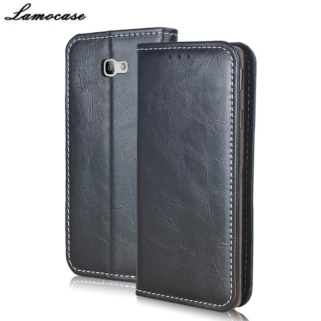 Lamocase for Samsung Galaxy On7 2016 Case Luxury Leather Case for Samsung Galaxy On7 2016 SM-G6100 Flip Cover with Wallet Slot