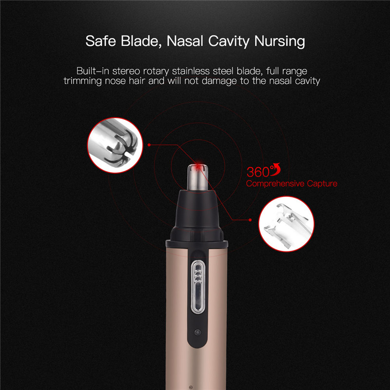 caneta nenhuma dor lâmina aço inoxidável nariz cabelo barbeador