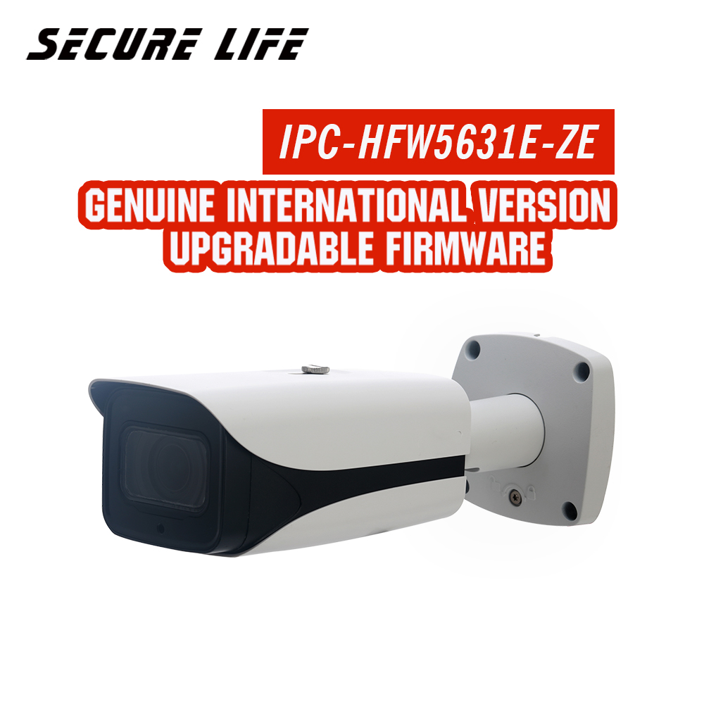 English version with logo h.265 6MP WDR IR 50m bullet Network security CCTV Camera POE IP camera IPC-HFW5631R-ZE