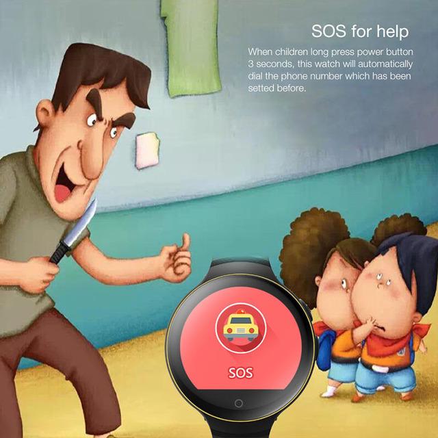 LEMFO LEC1 Child Smart Watch GPS / AGPS / LBS / WiFi and Camera Positioning SOS G-sensor Baby Kids Children Wrist Smartwatch