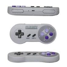 Game controller para snes Clássico mini gamepad controlador sem fio pega joystick USB 2 em 1 cinza ou cor chaves
