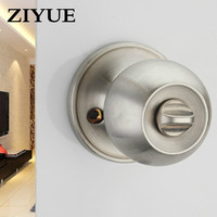 Free Shipping Spherical Lock Door Interior Bedroom Ball Stainless Steel Universal Wooden Locking Locks Bathroom