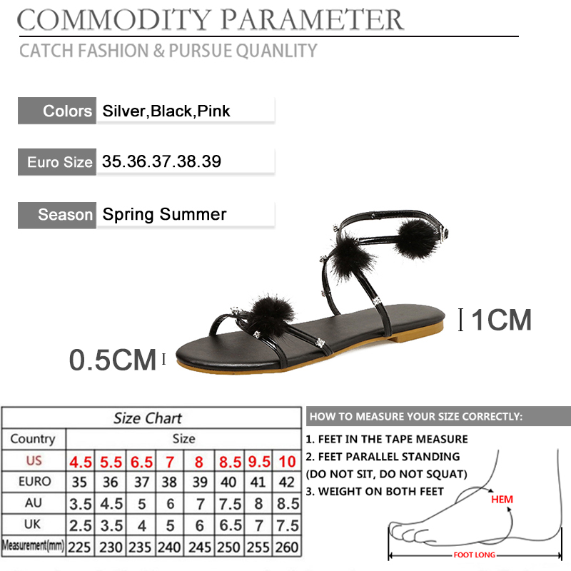 BYQDY Summer Cross tied Sandals For Women Fashion Bling Gladiator Sandals Women Casual Beach Shoes Size 39 Promotion Black in Women 39 s Sandals from Shoes