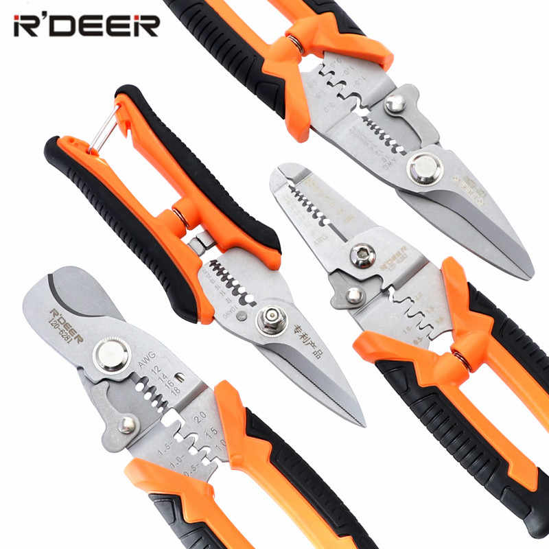 "7""/8"" Wire Stripper CR-V Wire Cutter Crimping Pliers Multitul Electrician Cutting Tools"