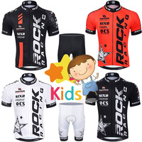 2017 Summer Children Cycling Jersey Set Boys Bike Clothing Shorts Sets Kids Team Bicycle Ropa Ciclismo/Breathable and Quick Dry