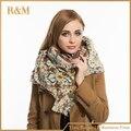 Za mulheres cachecóis inverno 2016 Paisley lenços de Cashmere New Designer acrílico cachecóis Big Size xailes básicos das mulheres