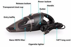 Image 2 - Kit de aspiradora de mano para coche, alta potencia, 5000pa, 12v, en húmedo y seco, succión potente, alfombra automotriz de 120w