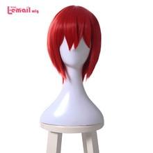 L email perruque de Cosplay synthétique de Mahoutsukai no Yome Chise Hatori, perruque courte rouge, résistante à la chaleur