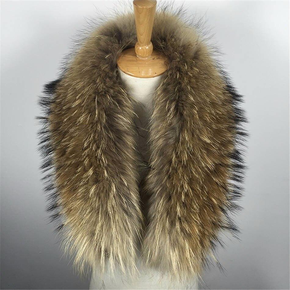 Натуральный мех Новинка Зима мех енота настоящий воротник и женские шарфы модное пальто свитер шарф воротник роскошный шейный платок D88