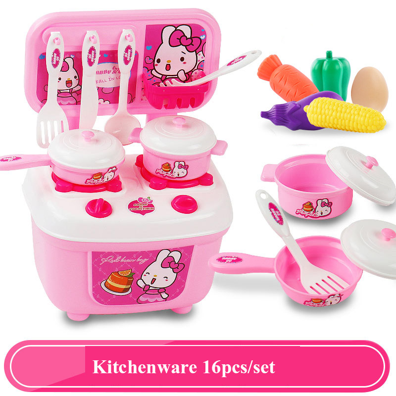 45b86668f5a4 16PCS Children Kitchen Pretend Play Toys Kitchenware Tableware Cooking  Miniature Play Do House Education Toy Gift for Girls Kids