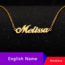 Personalized Name Necklace Women Collares Mujer Custom Gold Chain Necklaces Pendents Word Choker Colar Jewelry Accessories Femme personalized multiple name necklace women men collares mujer family necklaces pendents custom jewelry gold chain choker kolye