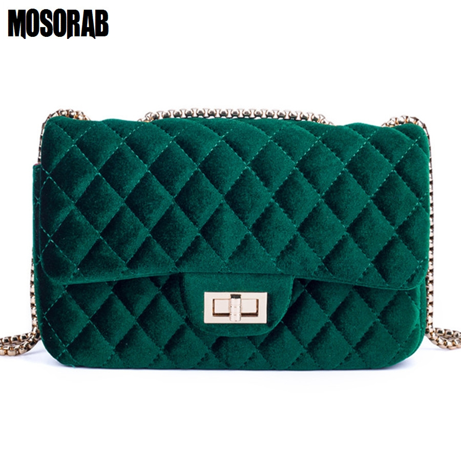MOSORAB Velour Shoulder bag Women Bag luxury handbags designer Brand Ladies Chain Velvet Crossbody Messenger Bags Sac A Main trenadorab velour shoulder bag women bag luxury handbags designer brand ladies chain velvet crossbody messenger bags sac a main