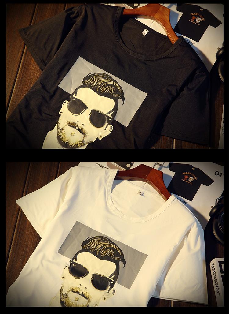 New Arrival Men t shirt Print T-shirt Men High Quality Cotton Short Sleeve T Shirts Men Loose O-Neck T-shirts Plus Size S-4XL 28