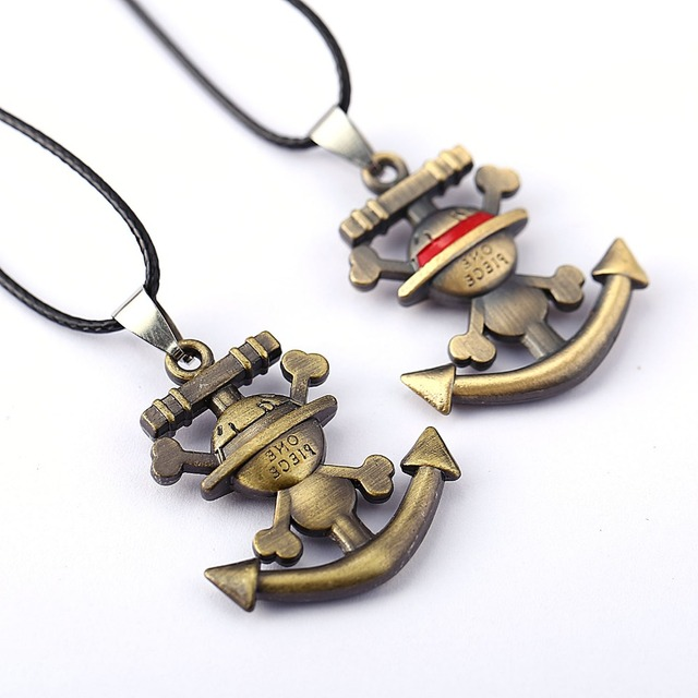 ONE PIECE Necklace Luffy Anime Pendant Necklace 2017 Friendship Men Women Jewelry Choker Accessories