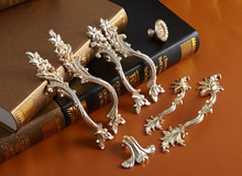 6 Styles Chic Drawer Pulls Handle Knobs Antique Silver Dresser Knob Rustic Kitchen Handles Furniture Hardware