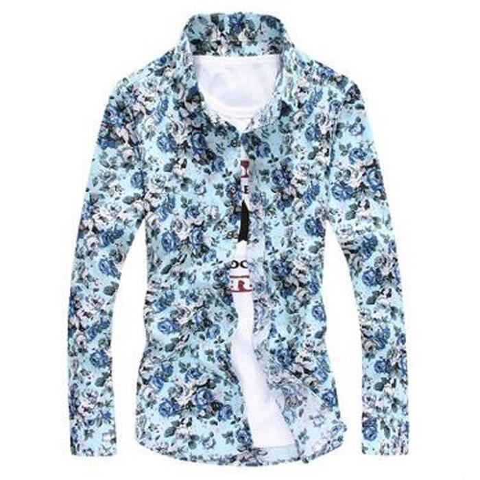 Nova blagovna znamka cvetlična majica s kratkimi rokavi majica z - Moška oblačila - Fotografija 2