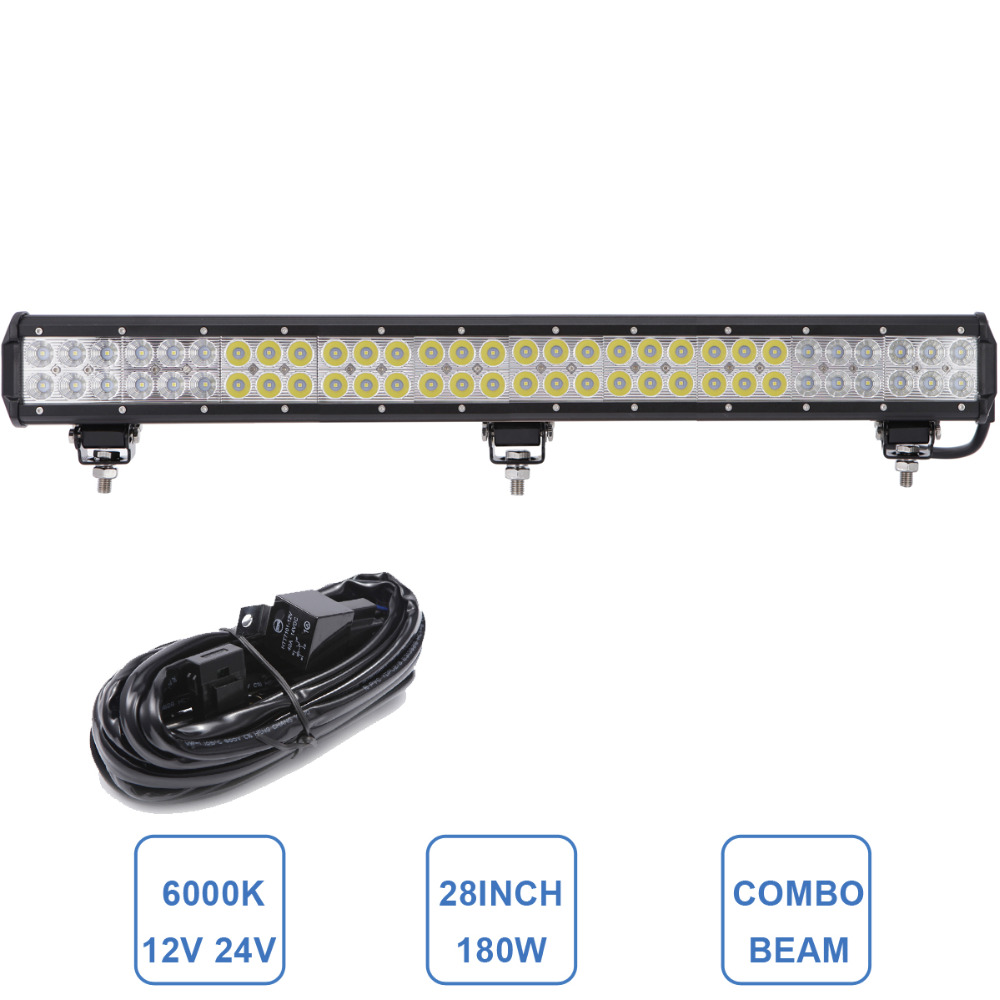 180W LED Offroad Light Bar 29'' 12V 24V ATV SUV UTE 4X4 4WD Truck Trailer Wagon Tractor Boat Car Vehicle Driving Lamp Headlight 60w led light bar 8 offroad 12v 24v car truck 4wd suv atv 4x4 auto trailer wagon ute awd boat spot driving fog lamp headlight