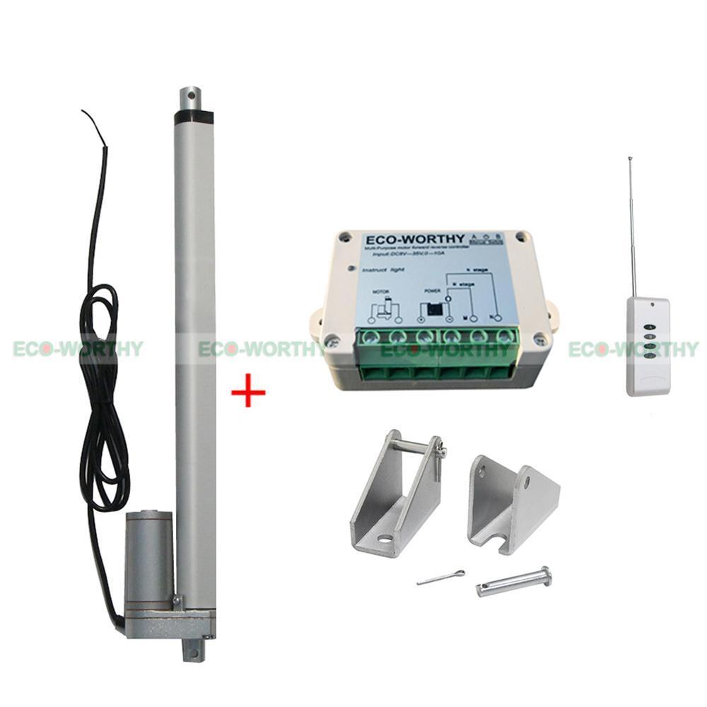 12V 330lbs 12 Linear Actuator Motor & Wireless Control Kit for Electric Medical 40km h 4 wheel electric skateboard dual motor remote wireless bluetooth control scooter hoverboard longboard