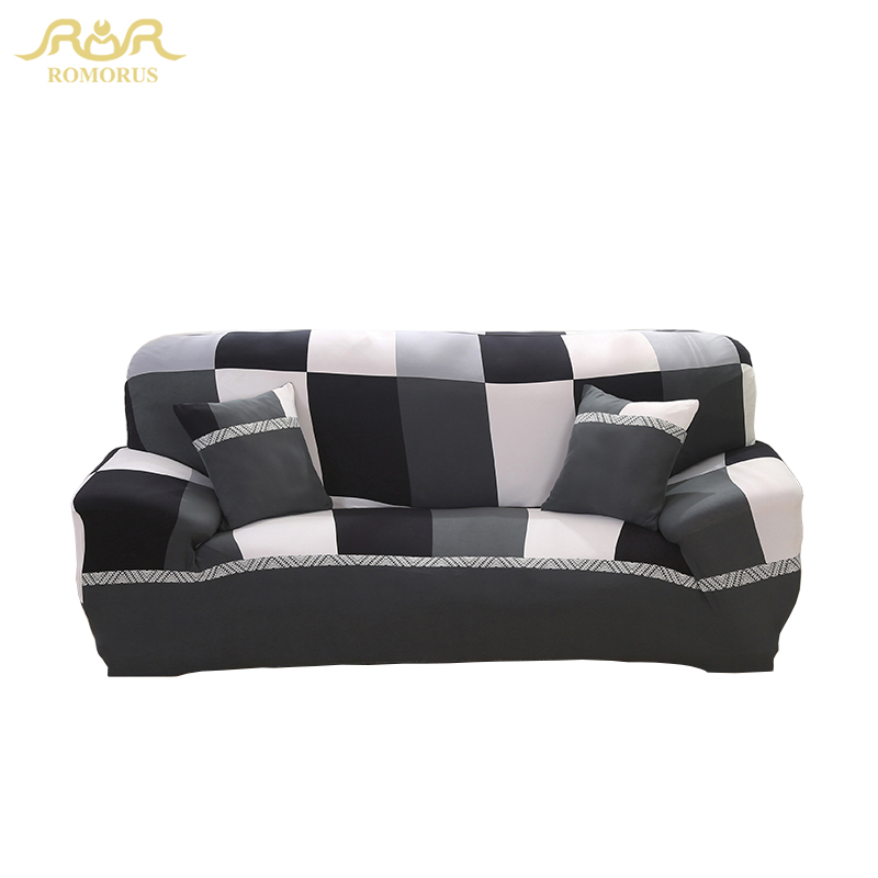 New Modern Plaid Stretch Fabric Sofa Covers Elastic
