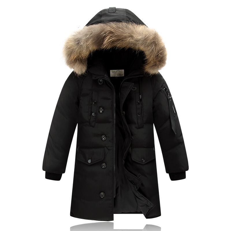Nueva York zapatos exclusivos último descuento 4 14y niños del invierno Abrigos de plumas chaqueta gruesa larga ...