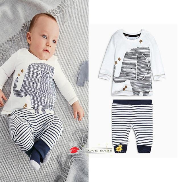 98a4b6c9e 2pcs New Baby Elephant Clothing Set Toddler Infant Camouflage Baby ...
