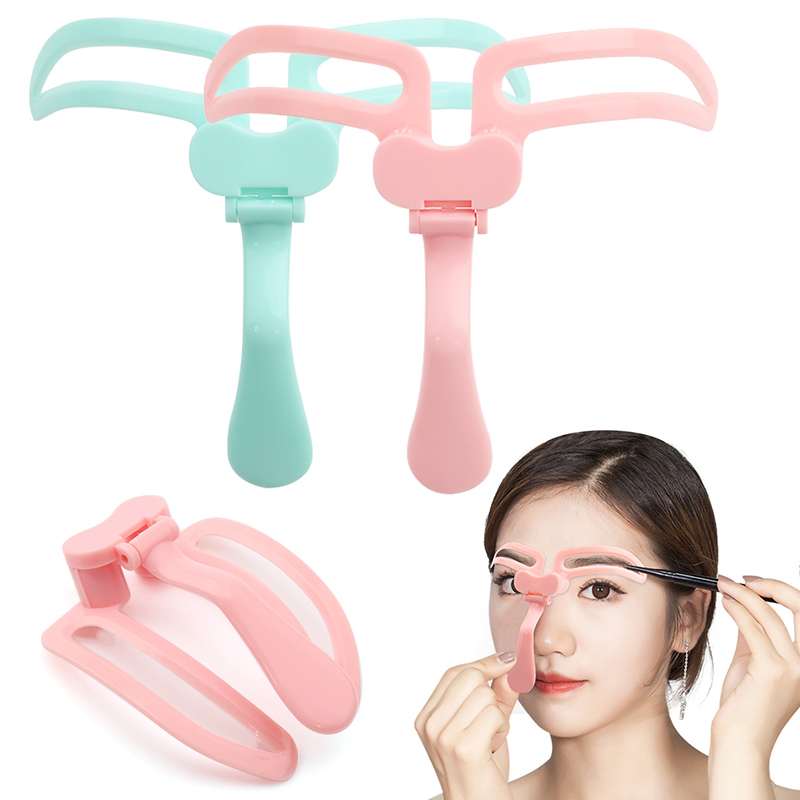Professional Eyebrow Shaper Template Stencil Foldable Shaping Brow Definition Makeup Tool Eyeliner Thrush Card Artifact