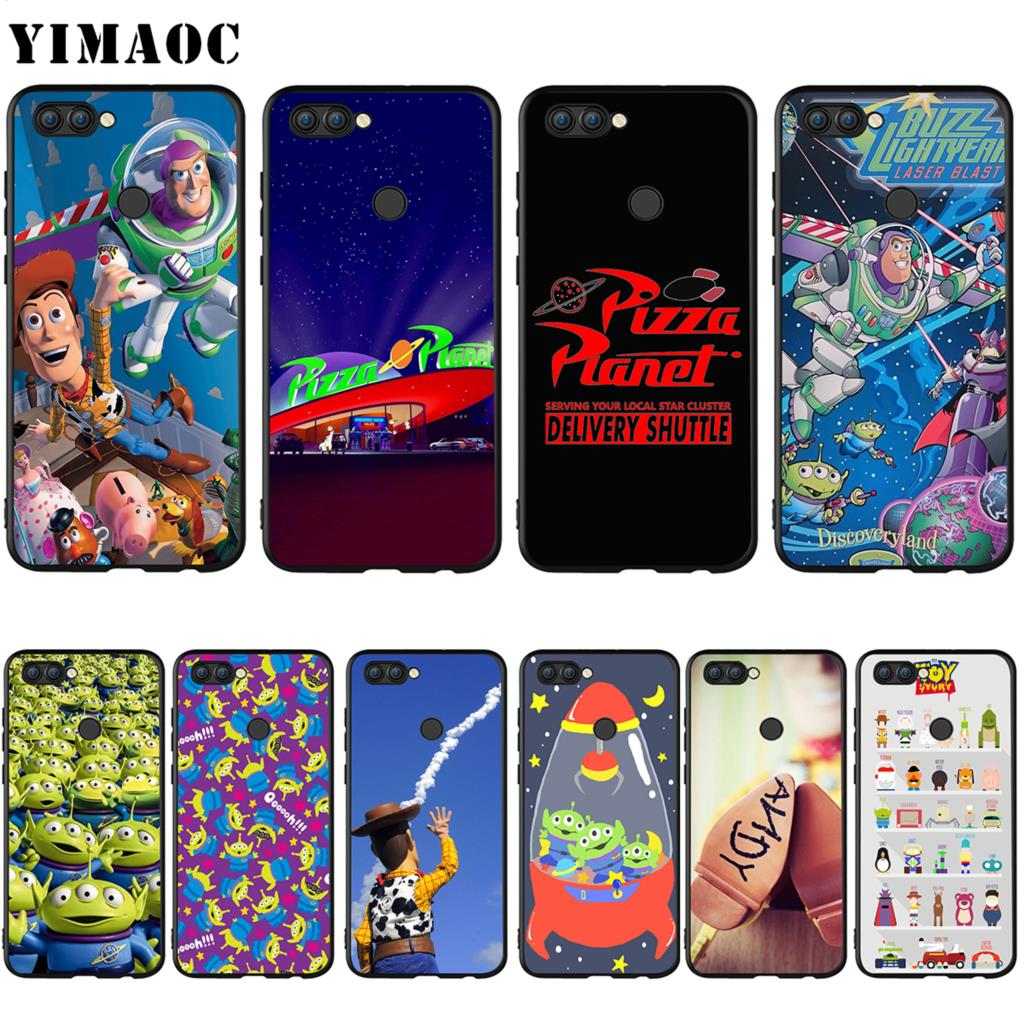 Yimaoc Toy Story Pizza Planet Silicone Case For Huawei Honor Y7 Y9 8c P Smart Prime 2018 2019 Cellphones & Telecommunications