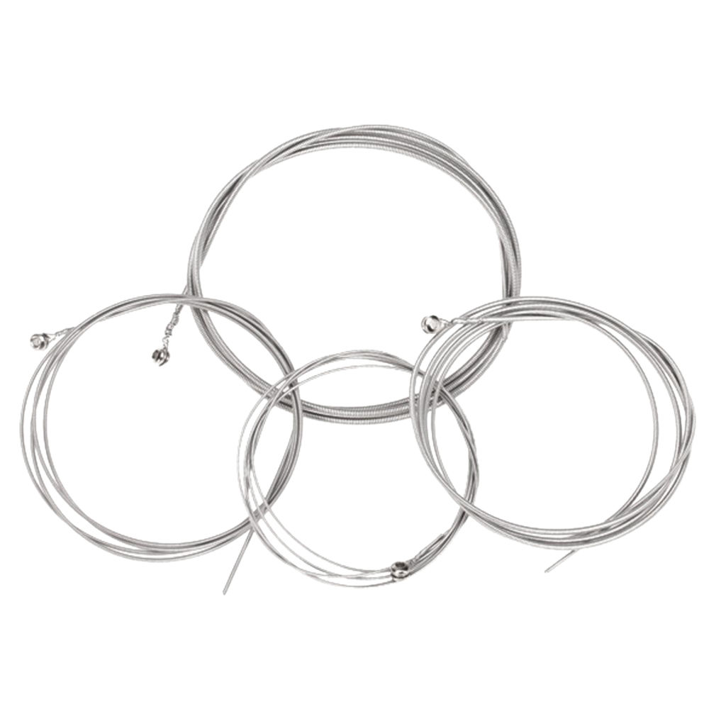5 Set Of 4 Steel Strings For 4 String Bass Guitar In