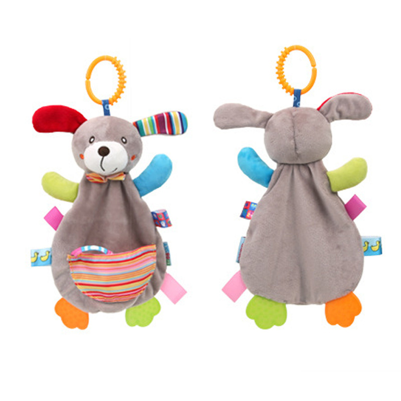 Baby Rattles Mobile Soft Baby Toys For Baby 0-12 Month Towel Bed Bell Cute Animal Christmas Crib Newborn Stroller Montessori Toy