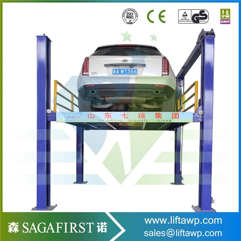 La voiture hydraulique verticale de 4 postes soulève le releveur de stationnement d'ascenseur de véhicule