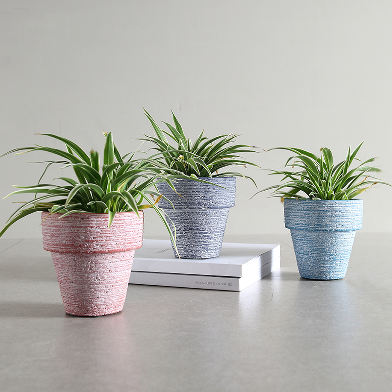 High Quality Small Traditional Cement Cactus Flower Pots