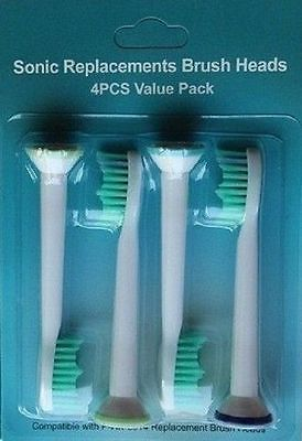 16PCS REPLACEMENT TOOTHBRUSH HEADS FIT FOR PHILIPS SONICARE  HX6014 1x replacement brush heads for philips sonicare e series toothbrush hx7002