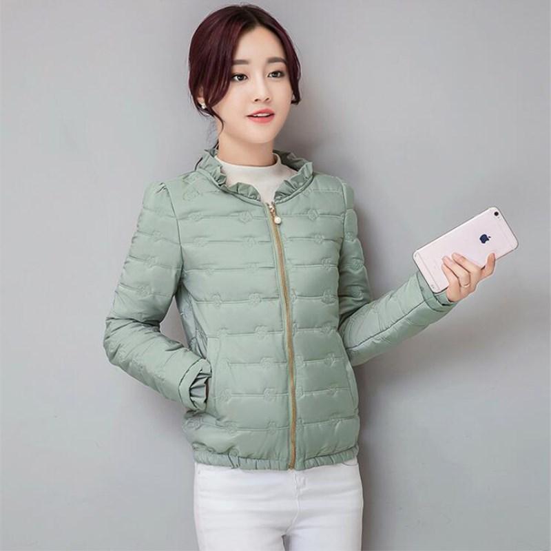 2018 Winter Jacket Women Stand Collar Cotton Padded Autumn Basic Jacket Short Outwear Jaqueta Feminina Inverno Female coat
