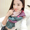 New Design Scarf for Women Winter Scarf Colorful Plaid Tassel Patchwork Style Fashion brand Female scarves 2016