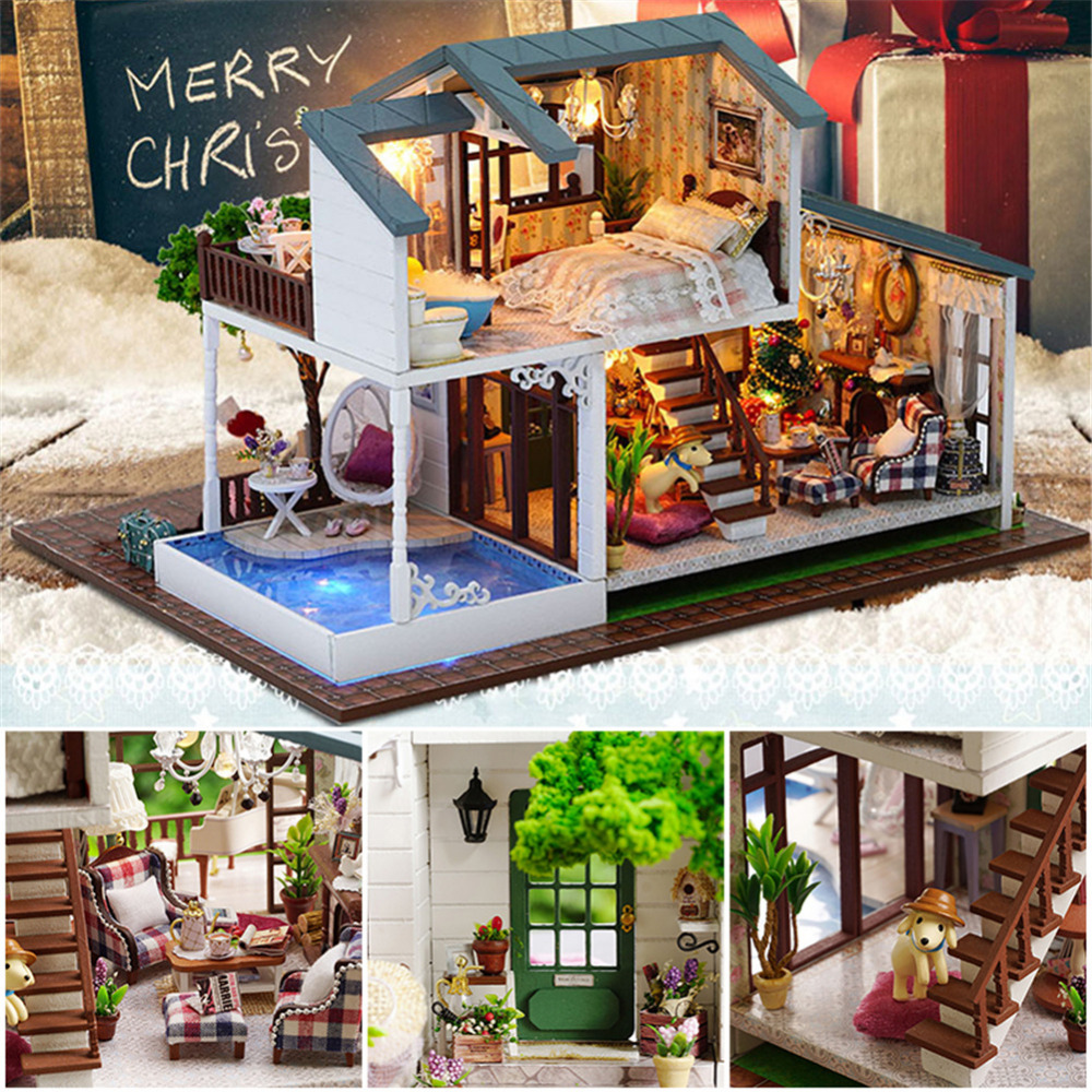 Hot Sale DIY Cottage Hand Assembled Wooden Doll House Innovative Birthday Gift London Holiday For Children In Houses From Toys Hobbies On