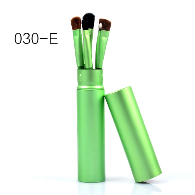 New 5 Pcs Eye Makeup Brushes Set Eye shadow Eye Liner Shadow Brushes Kit Pony Hair Black Makeup Tool With Cup Tube Holder 5