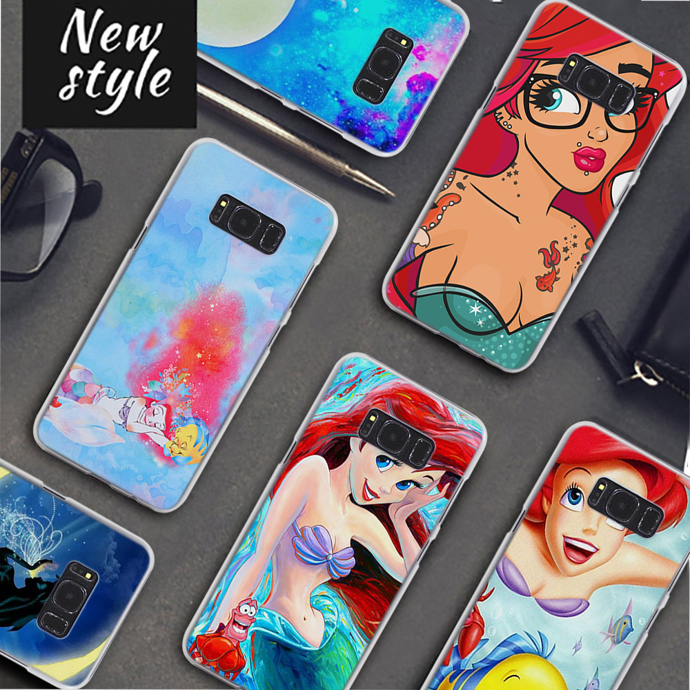 Ariel The Little Mermaid Pattern Clear Frame Hard Back Case Cover